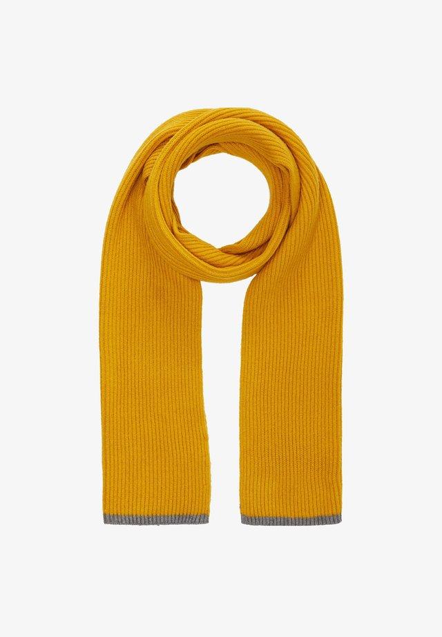 MIT RIPPSTRUKTUR - Scarf - yellow stripes