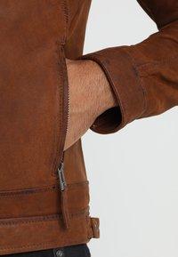 Oakwood - CASTEL - Kožená bunda - whisky - 6