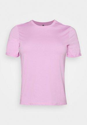 PCRIA FOLD UP SOLID TEE - Basic T-shirt - pastel lavender