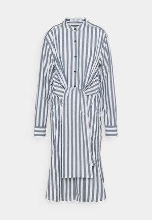 TIED SHIRT DRESS - Shirt dress - white/petrol