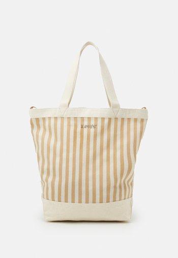 WOMEN'S STRIPED SHOPPER - Tote bag - light beige