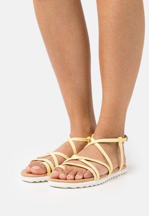 ZINNIA - T-bar sandals - light yellow