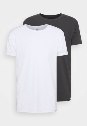 LOUNGE TEE 2 PACK - Haut de pyjama - white/grey