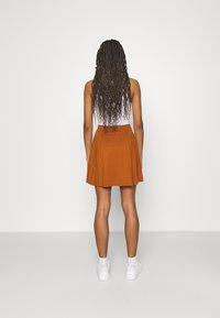 Even&Odd - A-line skirt - brown - 2