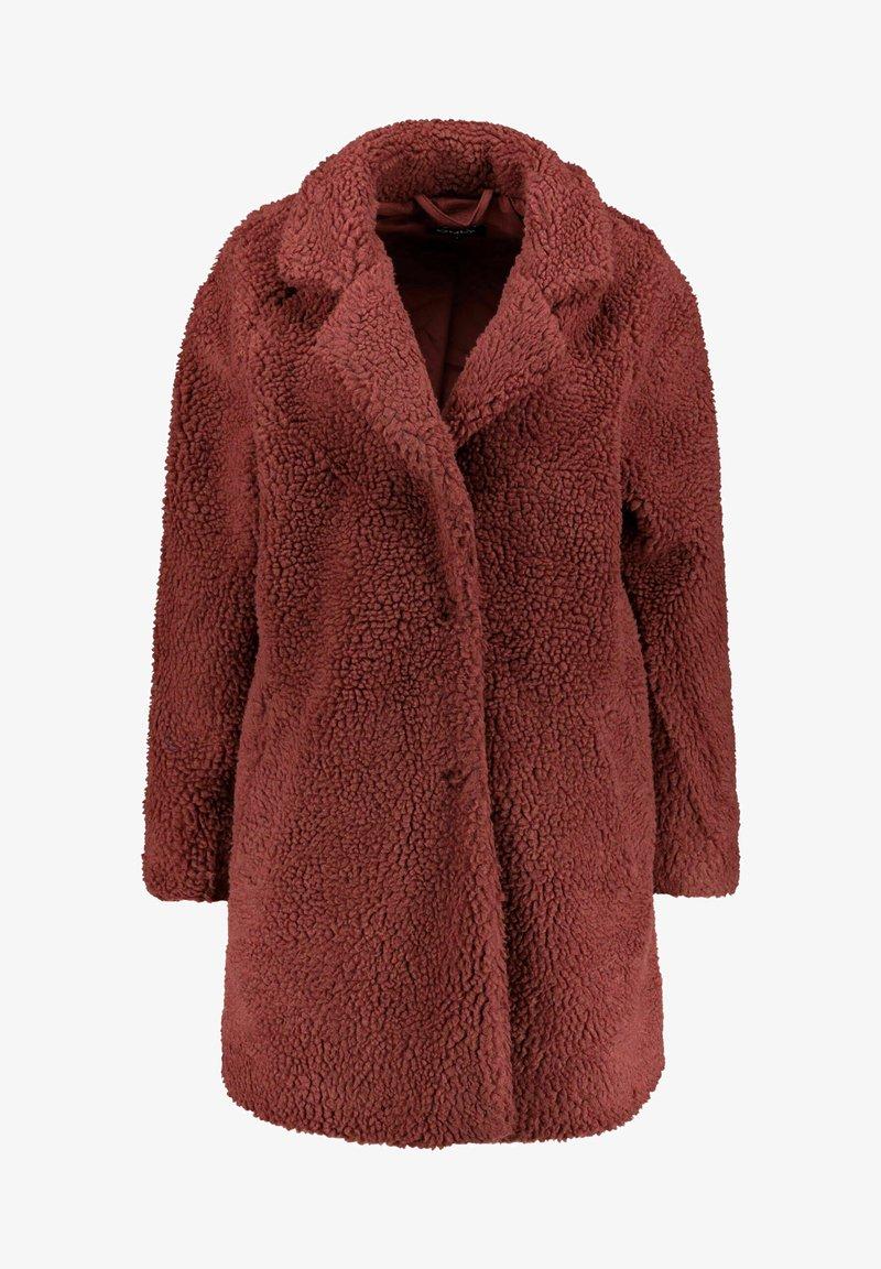 ONLY - ONLAURELIA SHERPA COAT  - Short coat - hellrot