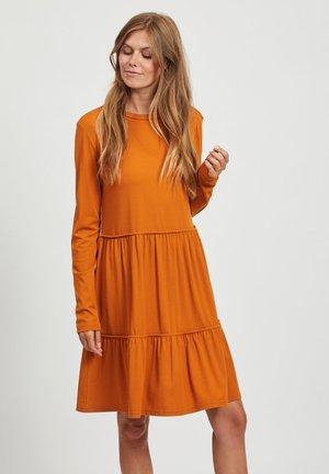 VISHEERAN DRESS - Jersey dress - pumpkin spice