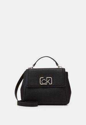 FLAP TOP HANDLE - Handbag - black
