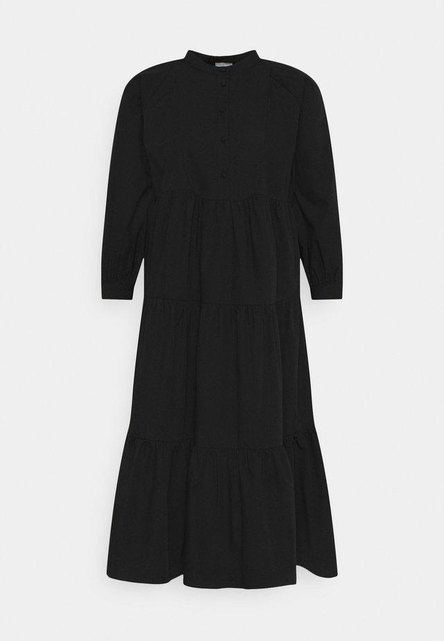 PCMNOLIA 3/4 MIDI DRESS - Day dress - black