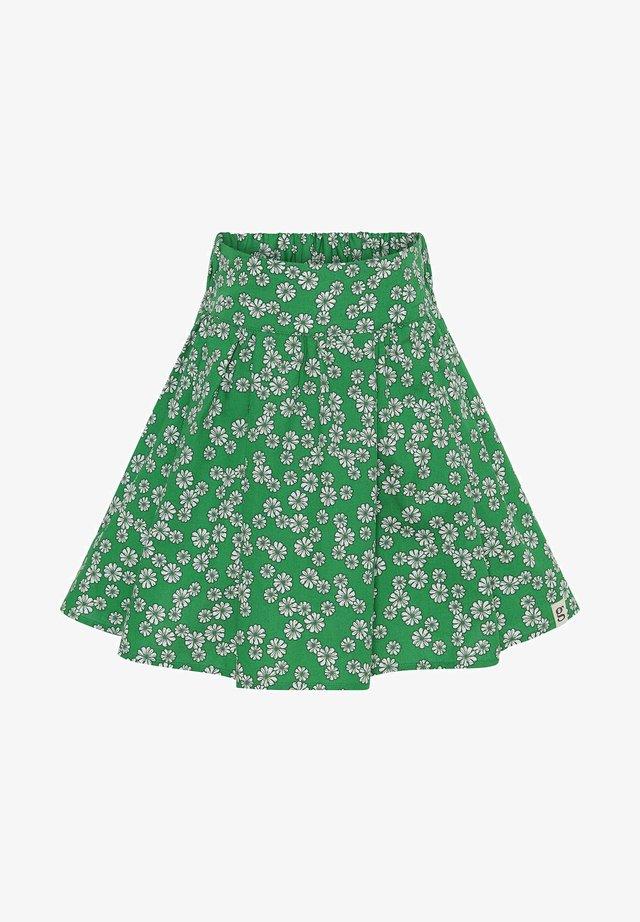 Veckad kjol - green