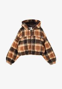 PULL&BEAR - Fleece jacket - dark brown - 5
