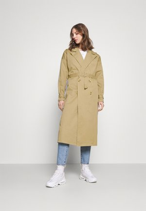 STRIPE INSET JACKET - Trenchcoat - camel