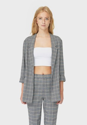 MIT KAROMUSTER  - Blazer - dark grey