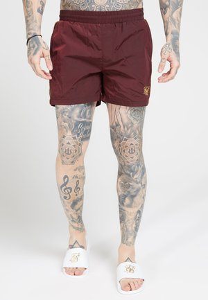CRUSHED TAPE - Short - burgundy/gold