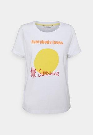 NUSUNSHINE - Print T-shirt - bright white