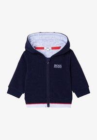 BOSS Kidswear - Zip-up sweatshirt - bleu cargo - 0