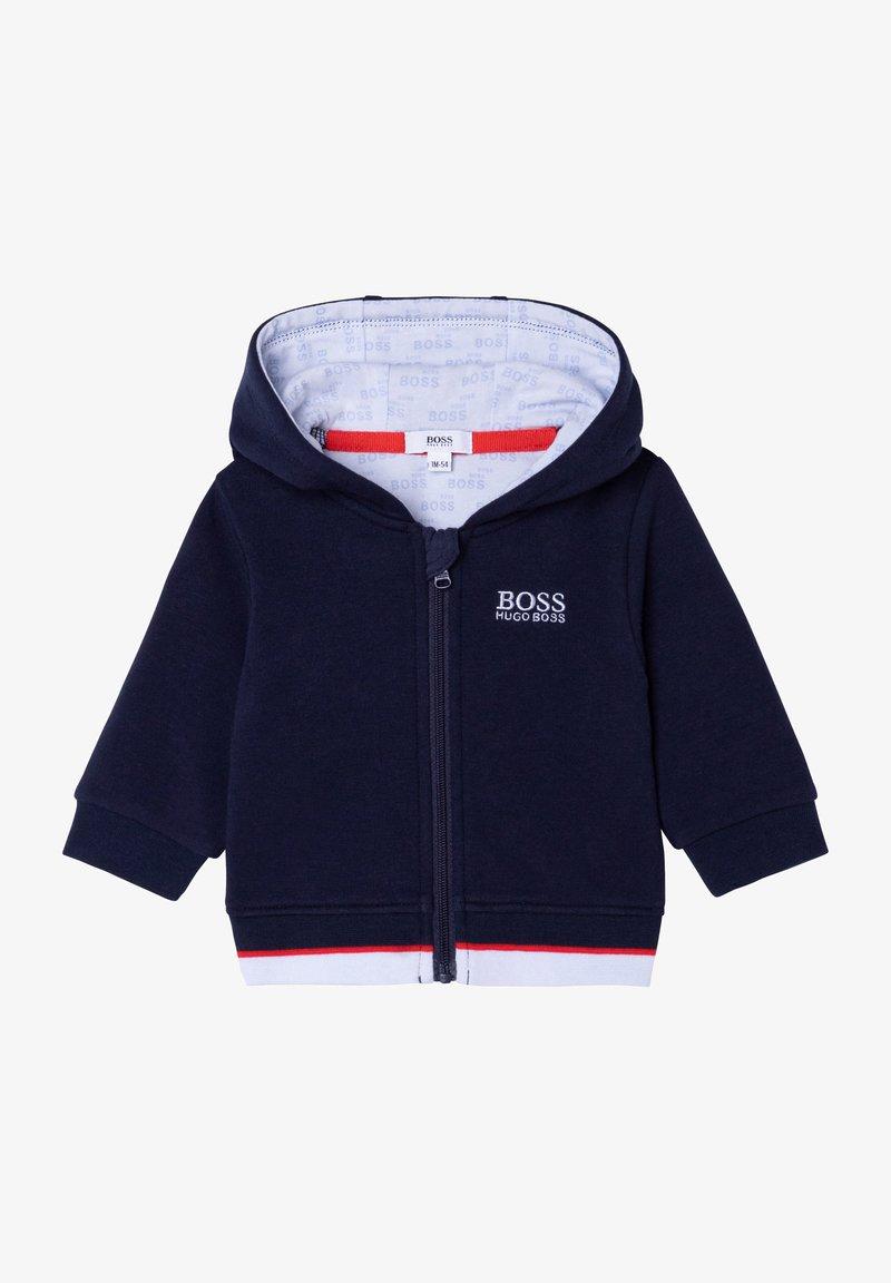 BOSS Kidswear - Zip-up sweatshirt - bleu cargo