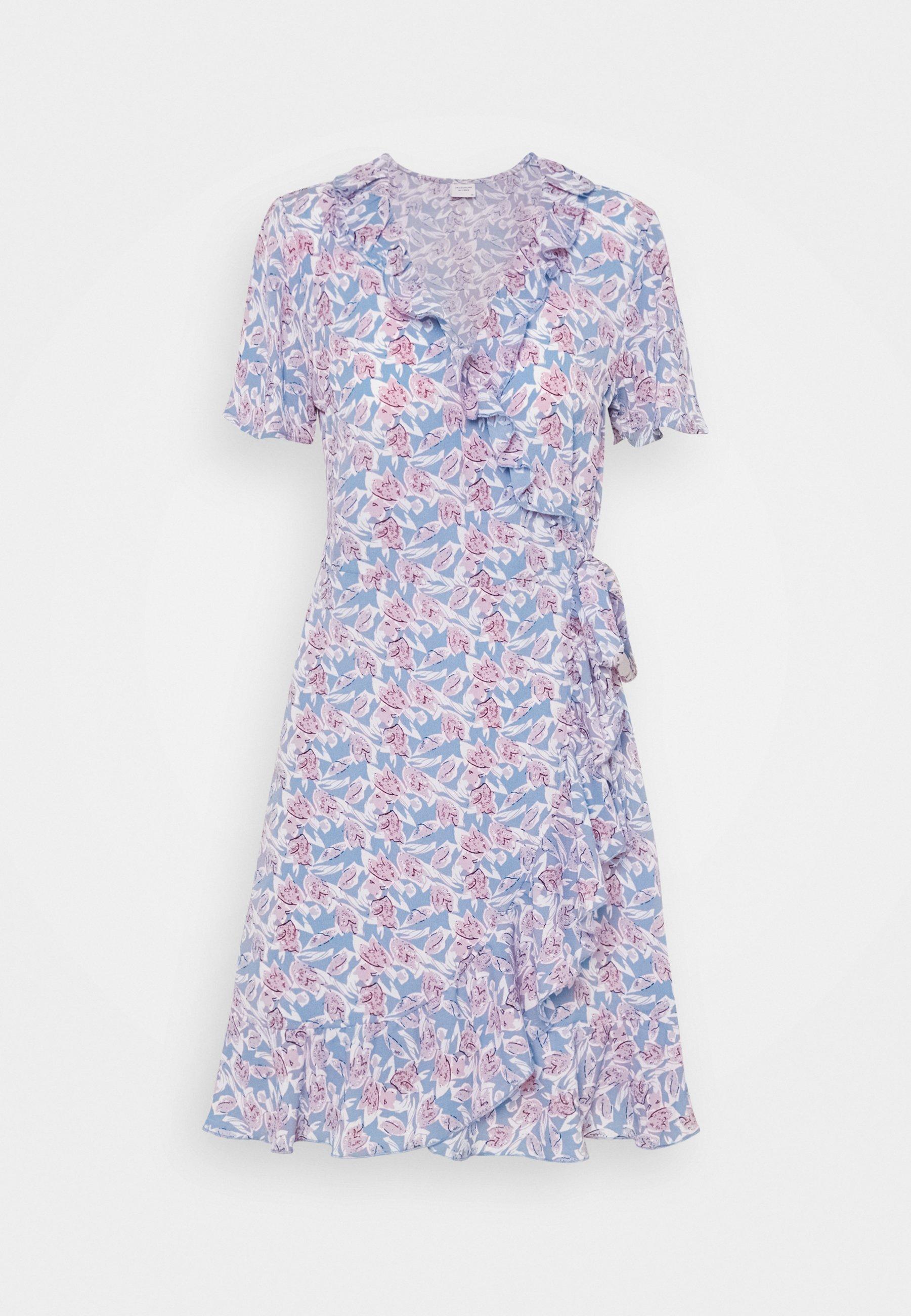 Women JDYMILO FLOWER WRAP DRESS - Day dress