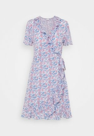 JDYMILO FLOWER WRAP DRESS - Vardagsklänning - allure/wistful mauve