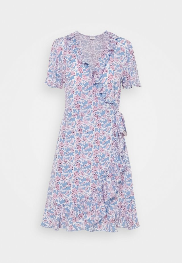 JDYMILO FLOWER WRAP DRESS - Korte jurk - allure/wistful mauve