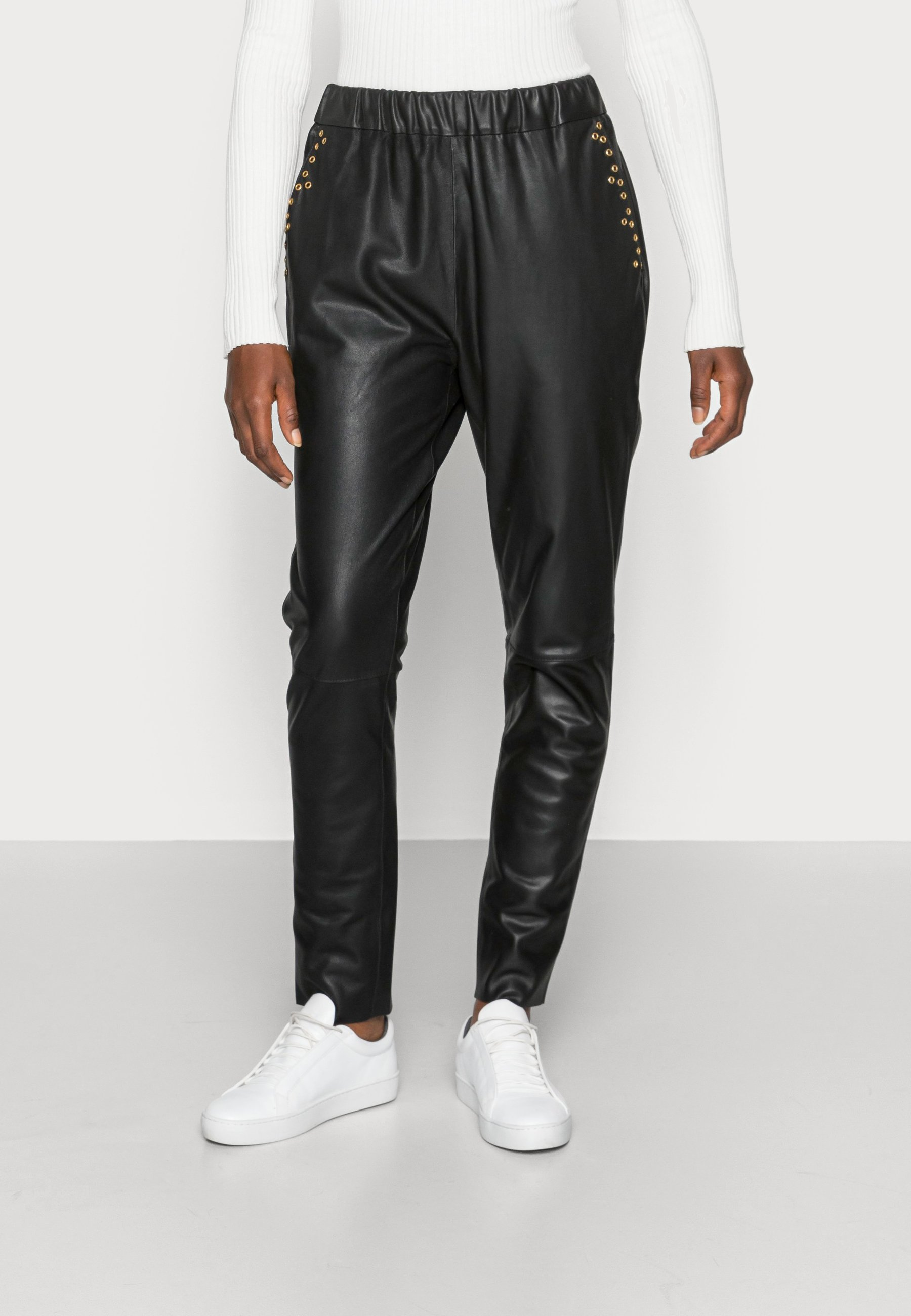 Women PANTS - Leather trousers