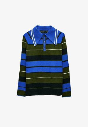 MIT POLO-KRAGEN  - Polo shirt - neon blue