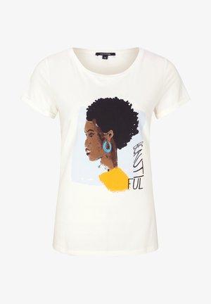 MIT MODISCHEM  - Print T-shirt - white