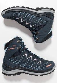 Lowa - INNOX PRO GTX MID - Hiking shoes - stahlblau/lachs - 1