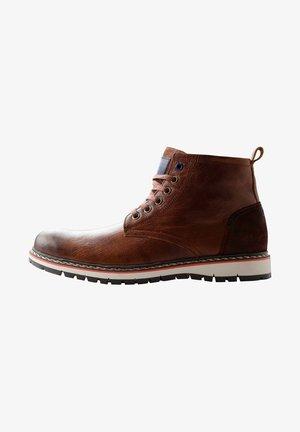 MYKEN - Lace-up ankle boots - cognac