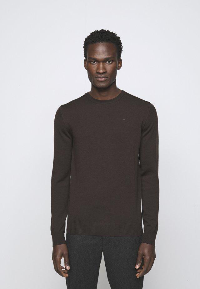 LYLE CREW NECK - Pullover - dark brown