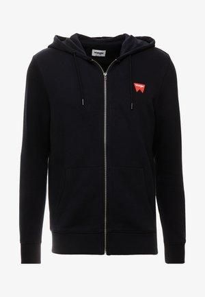 SIGN OFF ZIPTHRU - Sweater met rits - black