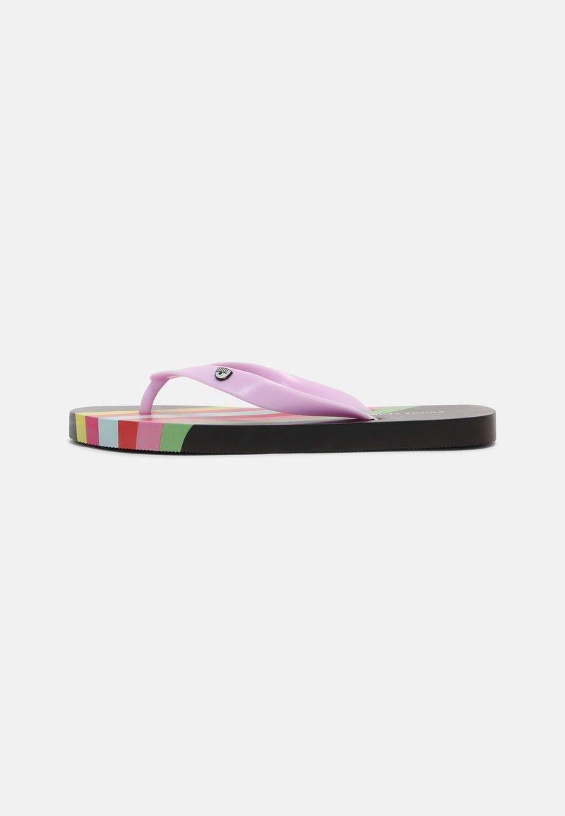 CHIARA FERRAGNI - SLIDERS - T-bar sandals - black rainbow