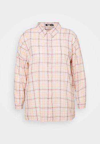 CHECK  - Button-down blouse - pink