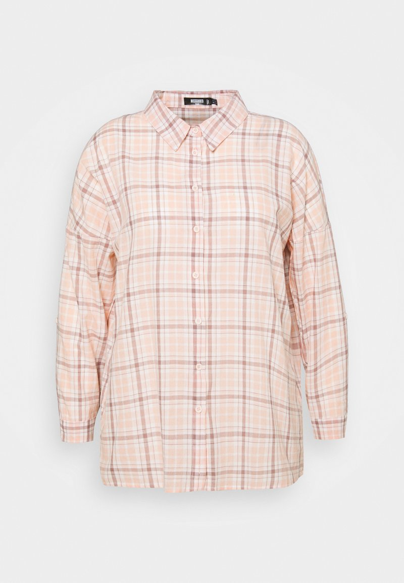 Missguided Plus - CHECK  - Button-down blouse - pink