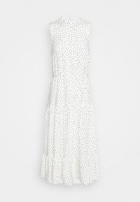 HIGH NECK SPOT MIDI - Vestido informal - white