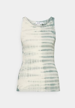 STELLA PRINTED TANK - Topper - dusty green/off-white