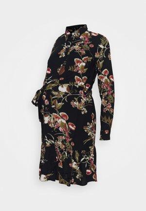 PCMBRENNA DRESS - Shirt dress - black