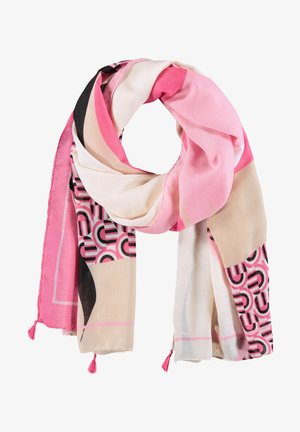 Scarf - peony/ toffee/ pearl ivory