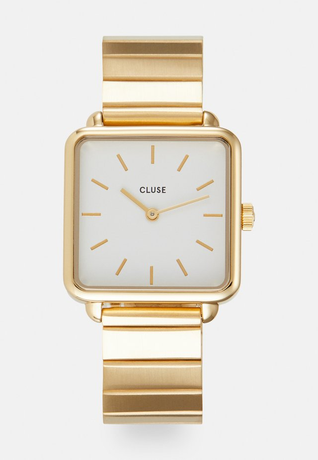LA TETRAGONE - Horloge - gold-coloured/white