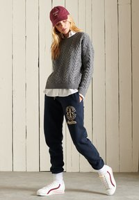 Superdry - COLLEGIATE  - Tracksuit bottoms - eclipse navy - 0