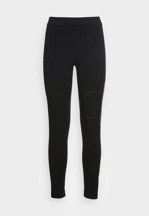 Leggings - Trousers - black/gray