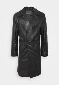 CHRISTIAN LEATHER COAT - Kožená bunda - black