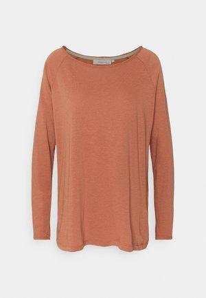 ESSENTIAL HEAVY SLUB - Long sleeved top - copper brown