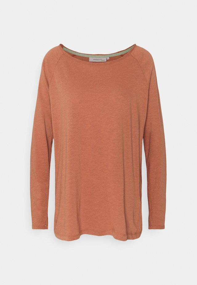 ESSENTIAL HEAVY SLUB - T-shirt à manches longues - copper brown