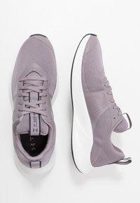 Under Armour - CHARGED AURORA - Sportschoenen - slate purple/white/blackout purple - 1