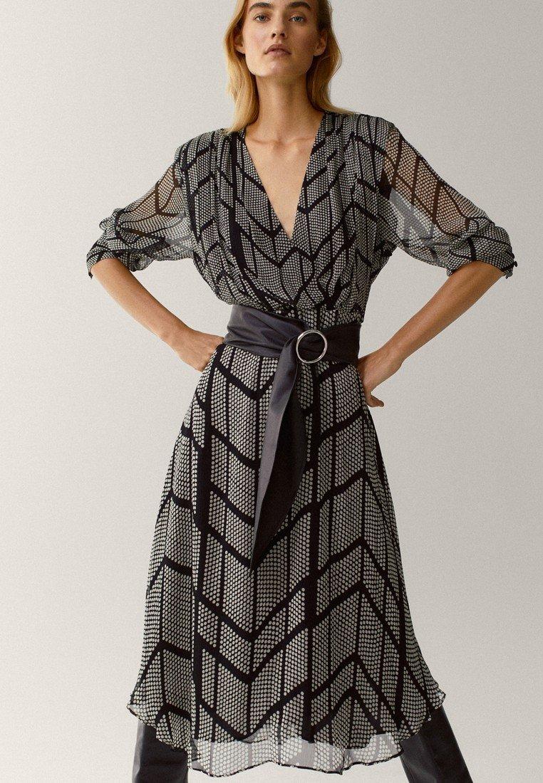 Massimo Dutti - Shift dress - black