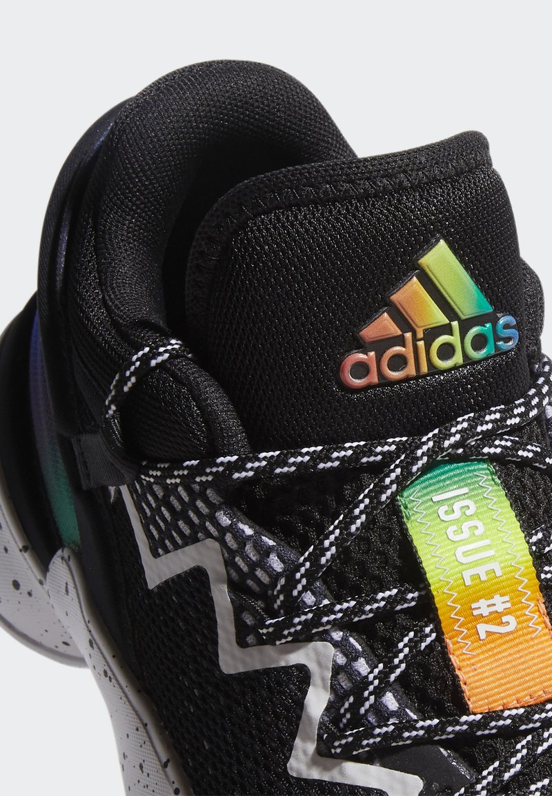 adidas Performance - D.O.N. ISSUE 2 UNISEX - Basketball shoes - core black/footwear white/solar red