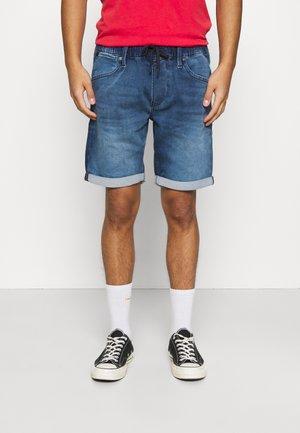 JJIRICK JJDASH - Denim shorts - blue denim