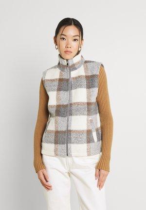 VMFRIDA MARI CHECK SHORT WEST - Vest - light grey melange