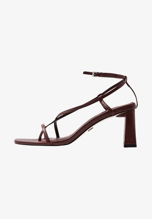 NICO HEEL - T-bar sandals - burgundy