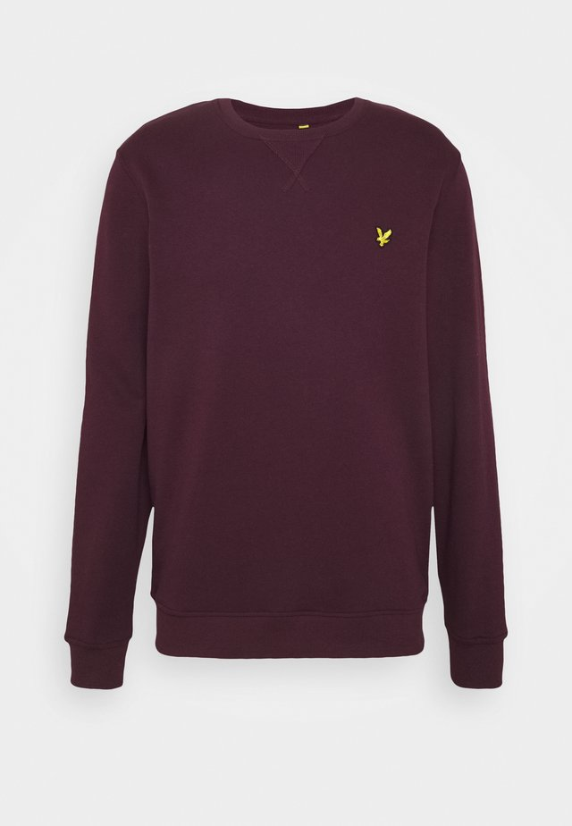 CREW NECK - Sweatshirt - burgundy